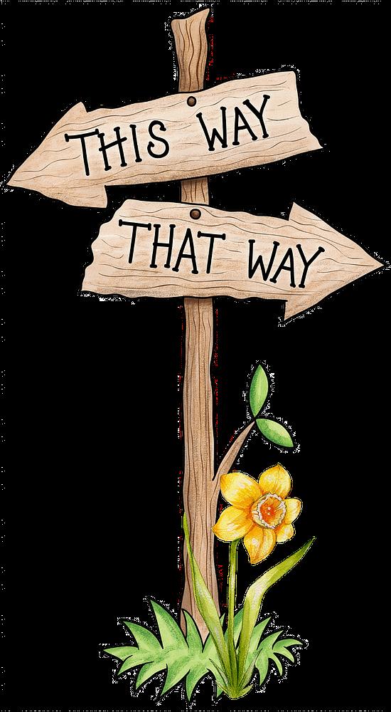 This way.  That way.